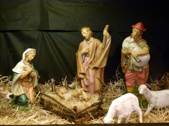 Part of the crib at St Johns Caterham