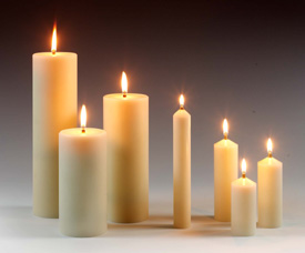 What i said this sunday pentecost the view from the valley for Oil filled candlesticks