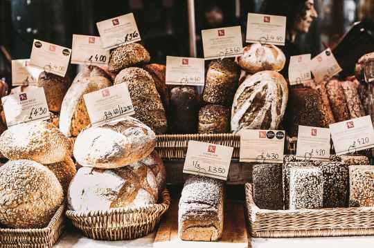 gray foods on wicker baskets